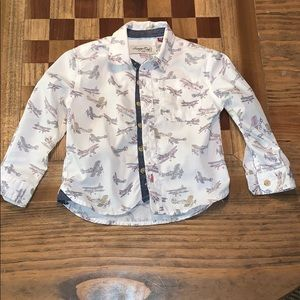 EUC Sovereign Codes Boys Airplane Button Down